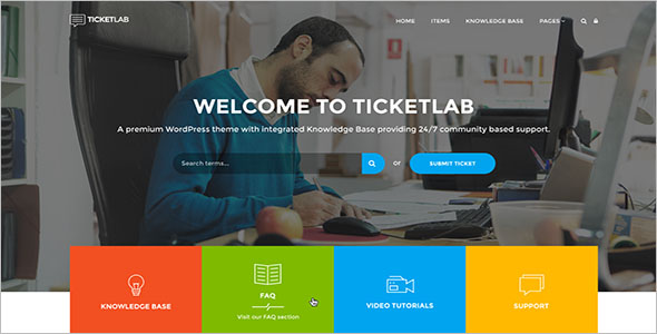 Knowledge Base Responsive WordPress Theme