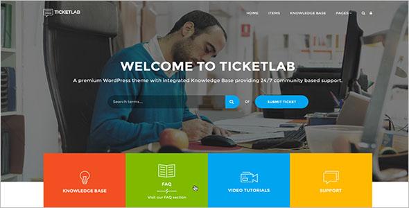 Knowledge Base Responsive WordPress Theme