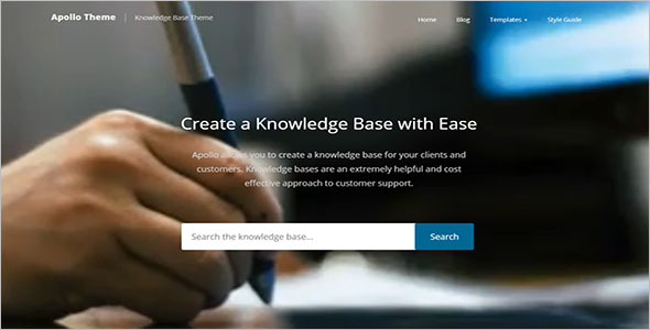 Knowledge Base WordPress Template