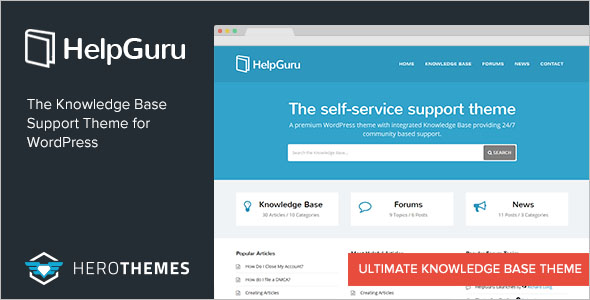 Knowledge Base WordPress Theme Nulled