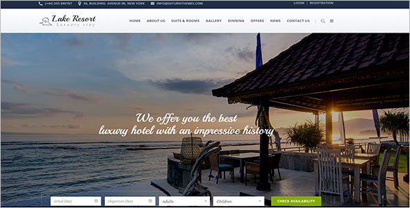 Lake Resort Website Template
