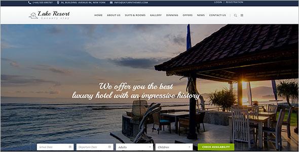Lake Resort Website Template