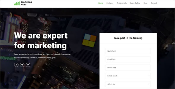 Landing Page Template For Internet Marketing