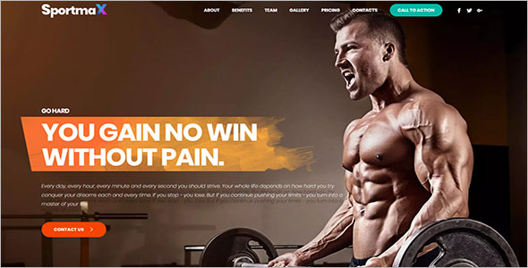 Landing Page Template For Sports Person