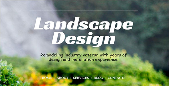 Landscaping Design WordPress Theme