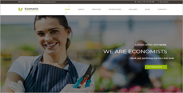 Landscaping Responsive WordPress Theme
