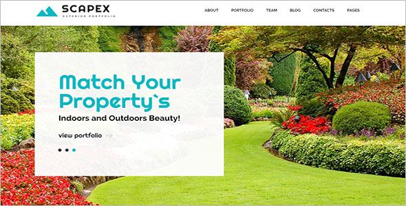 Landscaping WordPress Responsive Theme