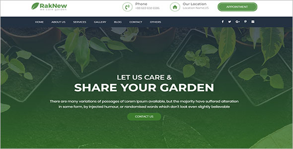 Landscaping WordPress Template