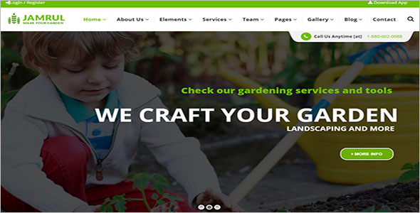 Landscaping WordPress Theme