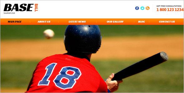Latest Baseball Website Template