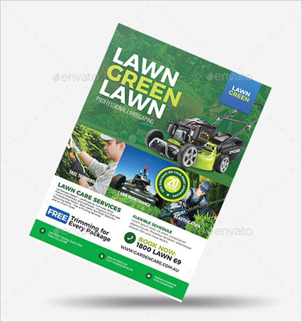 Latest Lawn Care Flyer Template
