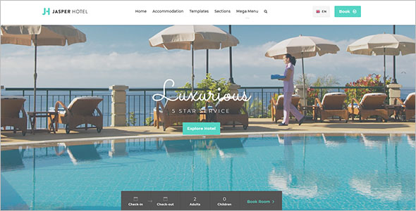 Latest Resort Website Template
