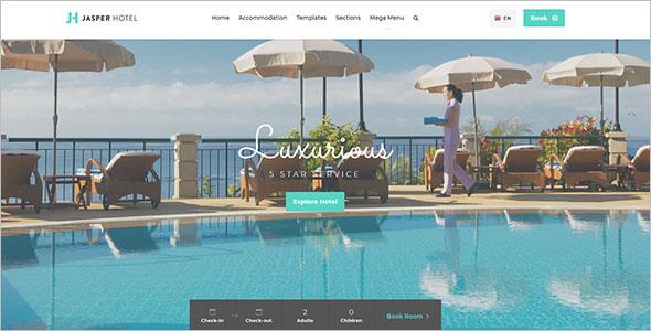 Latest Resort Website Template