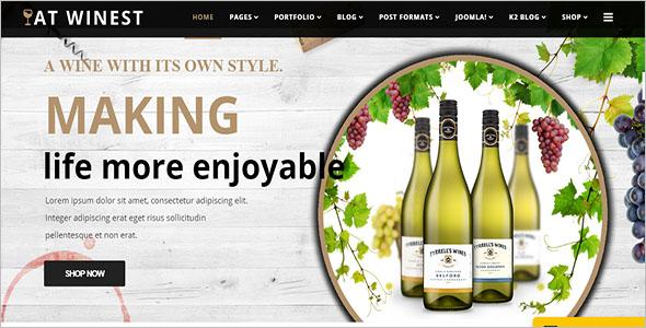 Latest Wine Store VirtueMart Template