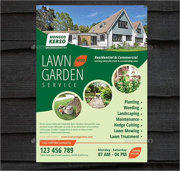 Lawn Care Flyer PSD Template