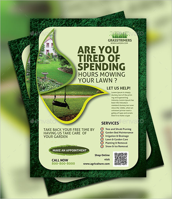 Lawn Care Flyer Template EPS