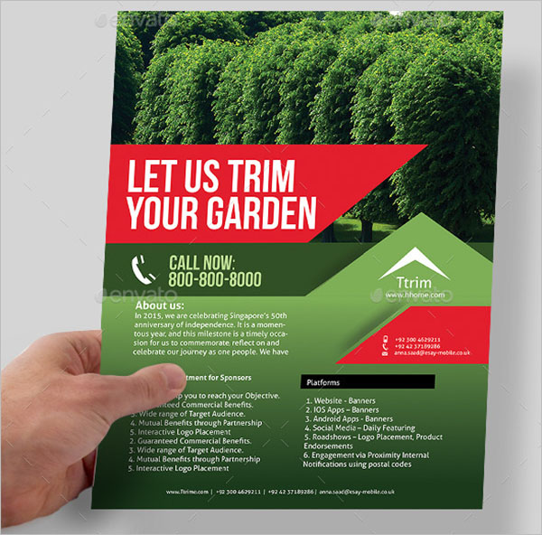 Lawn Care Flyer Template Photoshop