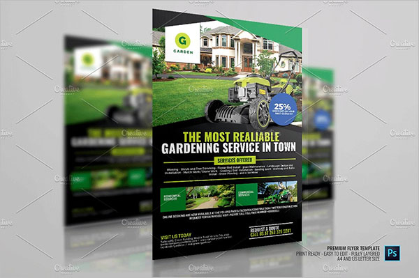 Lawn Cleaning Flyer Template