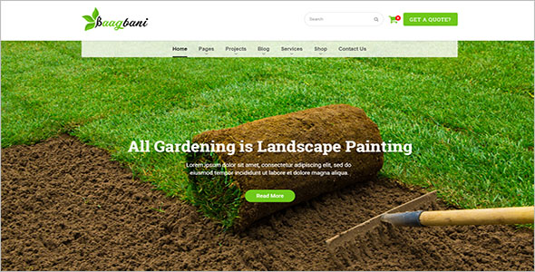 Lawn & Garden Blog Template