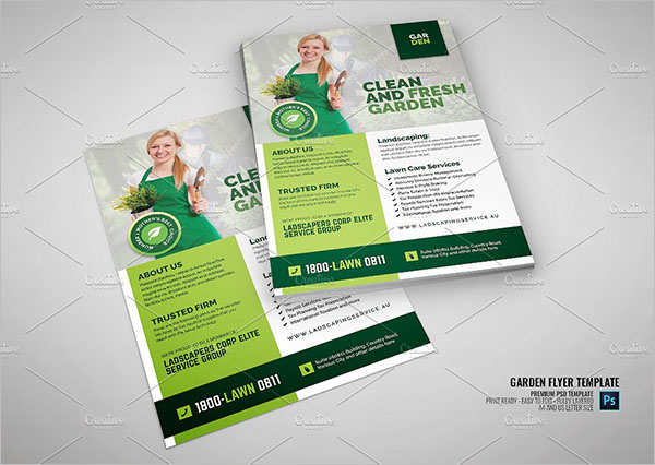 Lawn Landscaping Promotional Flyer Template