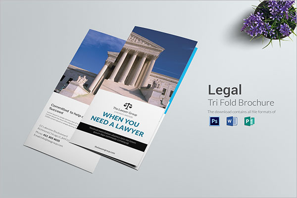 Lawyer Legal Brochure Template