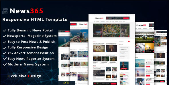 Magazine Blog Bootstrap Template