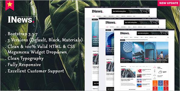 Magazine Bootstrap Template
