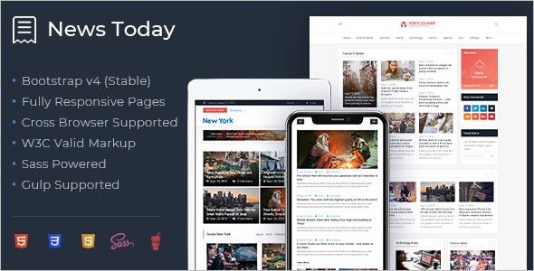 Magazine HTML5 Bootstrap Theme