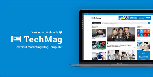 Magazine Style Bootstrap Template