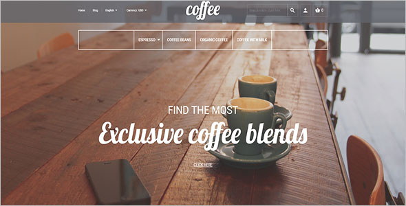 Magento Coffee Shop Template