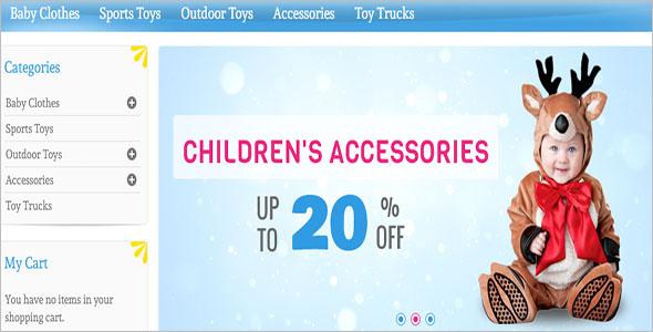 Magento Kids Store Theme