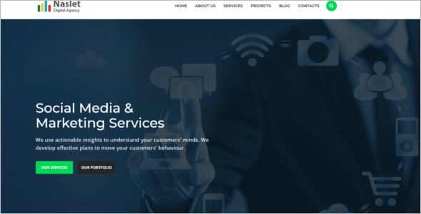 Marketing Bootstrap Template