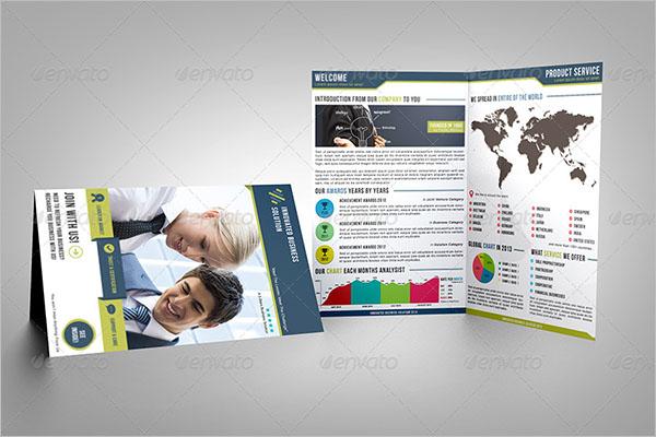Marketing Service Half Fold Brochure Template
