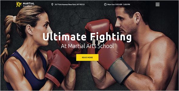 Martial Arts School Website Template