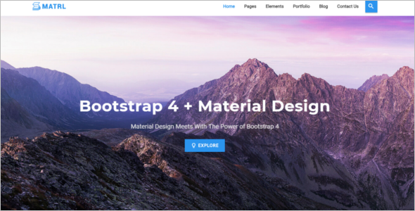 Material Design Bootstrap Template