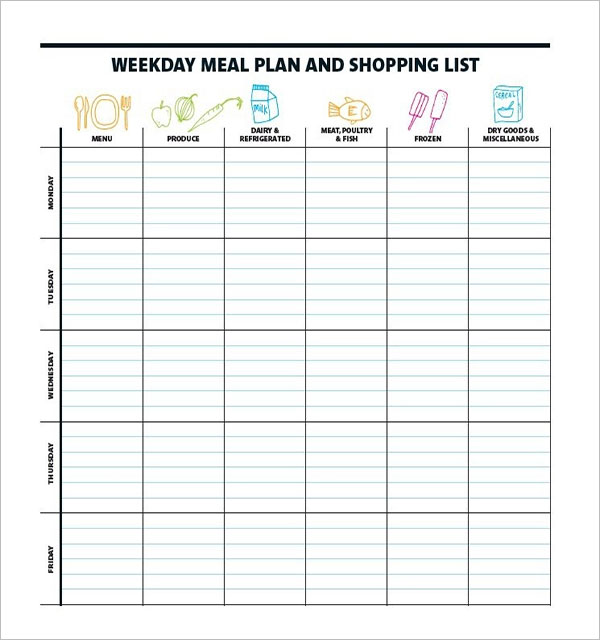 Meal Planning With Grocery List