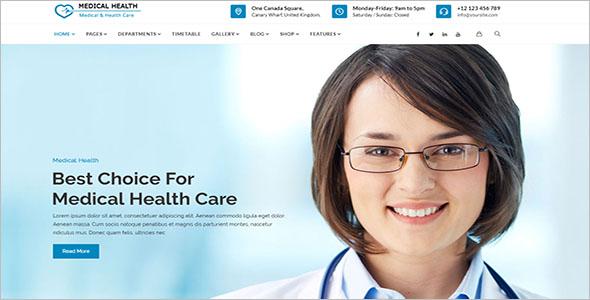 Medical Care WordPress Theme