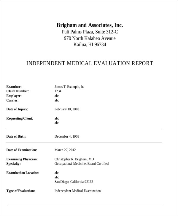 Medical Report Template Download