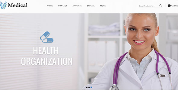 Medical Store Open Cart Template