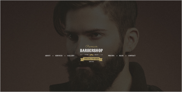 Men's Hair Salon HTML5 Template