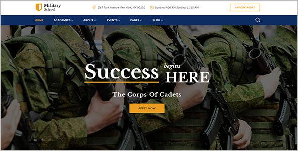 Military School Website Template