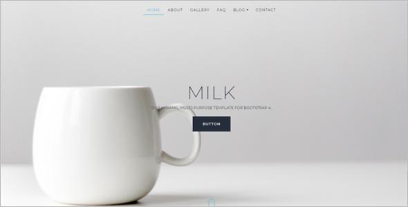 Minimal Bootstrap Website Template