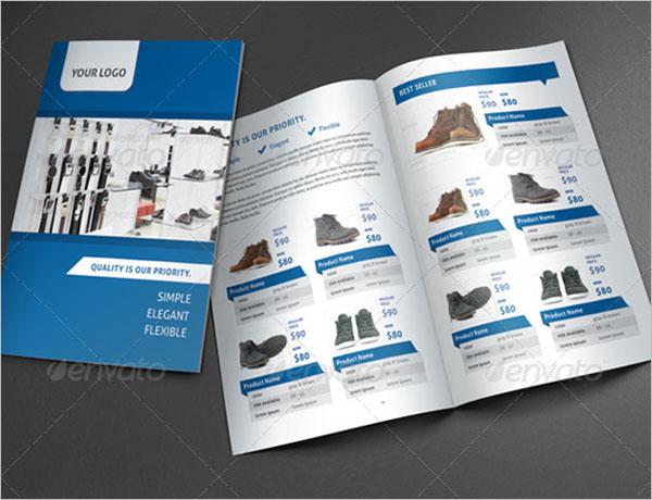 Minimal Half Fold Brochure Template