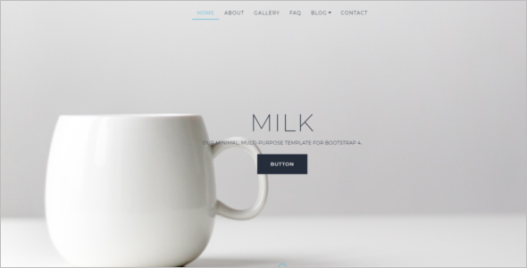 Minimal Website Bootstrap Template