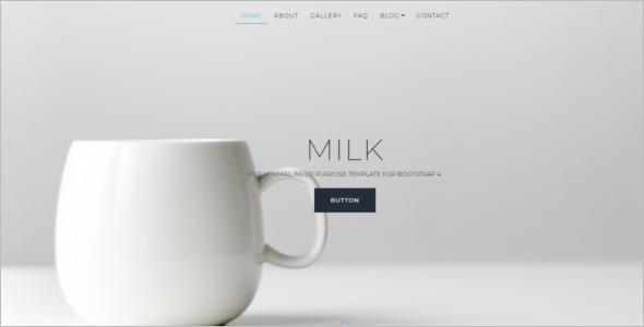 Minimal Website Bootstrap Template