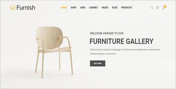 Minimalist Furniture Woocomerce Template