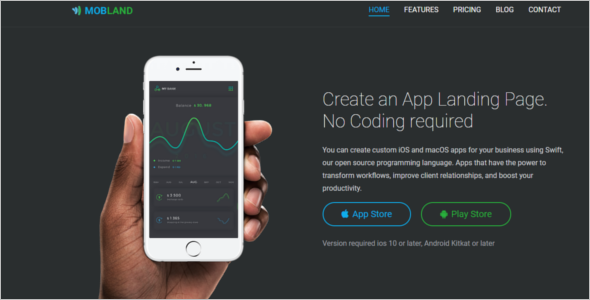 Mobile App Bootstrap Template