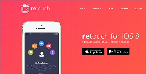 Mobile App HTML Blog Template