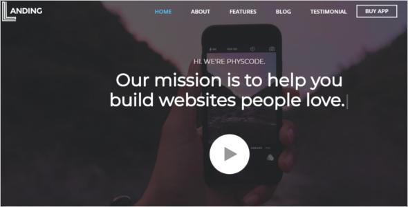 Mobile App Landing Page WordPress Theme