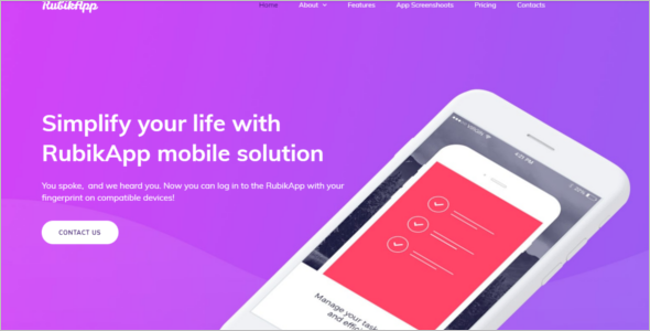 Mobile First Bootstrap Template